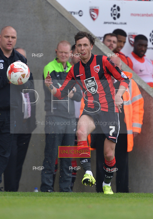 07/05/2016 Sky Bet League Two Morecambe v York City<br /> Jamie Devitt