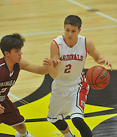 NWA Democrat-Gazette/MICHAEL WOODS &bull; @NWAMICHAELW<br /> The Farmington Cardinals vs the Springdale Bulldogs their basketball game Tuesday, November 17, 2015 in Farmington.