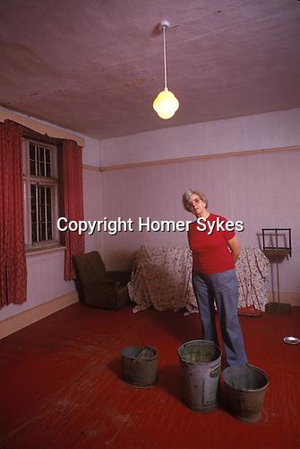 Interior falling into disrepair. Round House, Brogborough, Bedfordshire, 1980s,