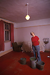 Interior falling into disrepair. Round House, Brogborough, Bedfordshire, 1980s,