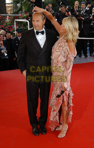 "KEVIN COSTNER, CHRISTINE BAUMGARTEN.arrivals at screening of.""The Martix-Reloaded"".Cannes Film Festival 2003.www.capitalpictures.com.sales@capitalpictures.com.©Capital Pictures"