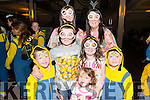 Front L-R Alan, David and Kaylee O'Leary, Eoin Collins and  Melissa O'Leary, Back L-R Neila Cronin and Maeve O'Leary all from Rathmore at the Minions World Record attempt in The Gleneagle Hotel, Killarney last Sunday.
