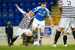 St Johnstone v Queens Park....25.09.12      Scottish Communities League Cup 3rd Round.Craig Beattie making his saints debut against Richard Little.Picture by Graeme Hart..Copyright Perthshire Picture Agency.Tel: 01738 623350  Mobile: 07990 594431