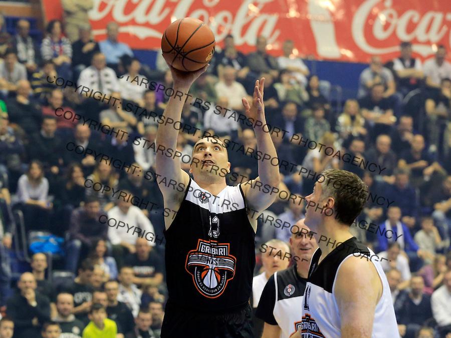 Kosarka season 2014-2015<br /> Partizan-Grobari za nas-Revijalni Mec<br /> Dejan Milojevic (L) and Dejan Tomasevic (R)<br /> Beograd, 11.03.2015.<br /> foto: Srdjan Stevanovic/Starsportphoto&copy;