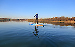 Stand up paddleboard (SUP) and kayak at Newtown Creek, Isle of Wight