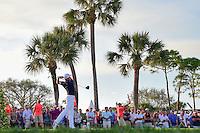 Rickie Fowler (USA) watches his tee shot on 18 during round 3 of the Honda Classic, PGA National, Palm Beach Gardens, West Palm Beach, Florida, USA. 2/25/2017.<br /> Picture: Golffile | Ken Murray<br /> <br /> <br /> All photo usage must carry mandatory copyright credit (&copy; Golffile | Ken Murray)