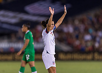 PASADENA, CA - AUGUST 4: Carli Lloyd #10 salutes the crowd during a game between Ireland and USWNT at Rose Bowl on August 3, 2019 in Pasadena, California.
