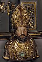 Europe/France/Auvergne/12/Aveyron/Estaing: Buste reliquaire de Saint-Fleuret