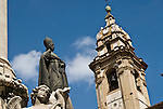 Church of San Domenico, Palermo, Sicily, Italy. Closeup
