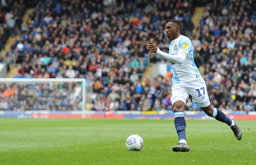Blackburn Rovers' Amari'i Bell<br /> <br /> Photographer Kevin Barnes/CameraSport<br /> <br /> The EFL Sky Bet Championship - Blackburn Rovers v Swansea City - Sunday 5th May 2019 - Ewood Park - Blackburn<br /> <br /> World Copyright © 2019 CameraSport. All rights reserved. 43 Linden Ave. Countesthorpe. Leicester. England. LE8 5PG - Tel: +44 (0) 116 277 4147 - admin@camerasport.com - www.camerasport.com