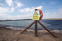 Deep water sign at reservoir