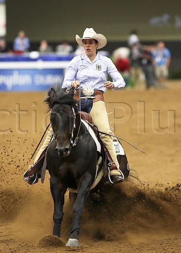 27 09 2010  Lexingon USA Kentucky Horse Park  World Equestrian Games  Sylvia Rzepka ger and Doctor ZIP Nic in Sliding Stop