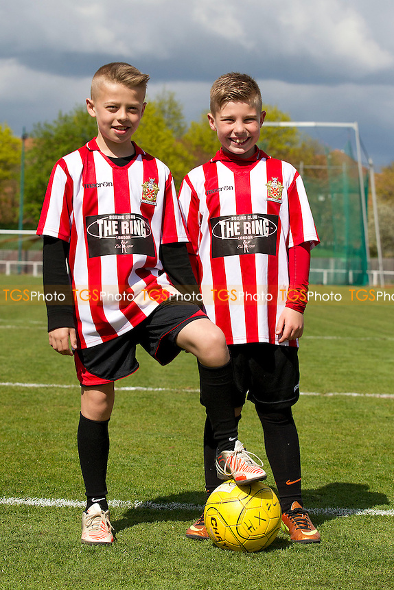 The Mascots before Kick Off - AFC Hornchurch vs Hayes & Yeading - Blue Square Conference South Football at The Stadium - 27/04/13 - MANDATORY CREDIT: Ray Lawrence/TGSPHOTO - Self billing applies where appropriate - 0845 094 6026 - contact@tgsphoto.co.uk - NO UNPAID USE.