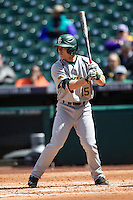 Baylor Bears outfielder Adam Toth (15) at bat during Houston College Classic against the Hawaii Rainbow Warriors on March 6, 2015 at Minute Maid Park in Houston, Texas. Hawaii defeated Baylor 2-1. (Andrew Woolley/Four Seam Images)