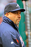 2 April 2011: Atlanta Braves Manager Fredi Gonzalez watches play from the dugout during a game against the Washington Nationals at Nationals Park in Washington, District of Columbia. The Nationals defeated the Braves 6-3 in the second game of their season opening series. Mandatory Credit: Ed Wolfstein Photo