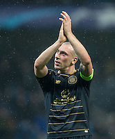 Scott Brown of Celtic during the UEFA Champions League GROUP match between Manchester City and Celtic at the Etihad Stadium, Manchester, England on 6 December 2016. Photo by Andy Rowland.