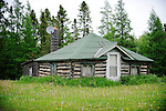 An old log cabin deep in the Chequamegon-Nicolet National Forest sports a modern convenience -- a satellite dish. The cabin is located in Florence County, Wisconsin. Though the Northwoods cabin may look to be unkept, if not abandoned, it is used on occasion.