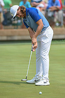 Tommy Fleetwood (ENG) watches his putt on 11 during 4th round of the 100th PGA Championship at Bellerive Country Club, St. Louis, Missouri. 8/12/2018.<br /> Picture: Golffile   Ken Murray<br /> <br /> All photo usage must carry mandatory copyright credit (© Golffile   Ken Murray)