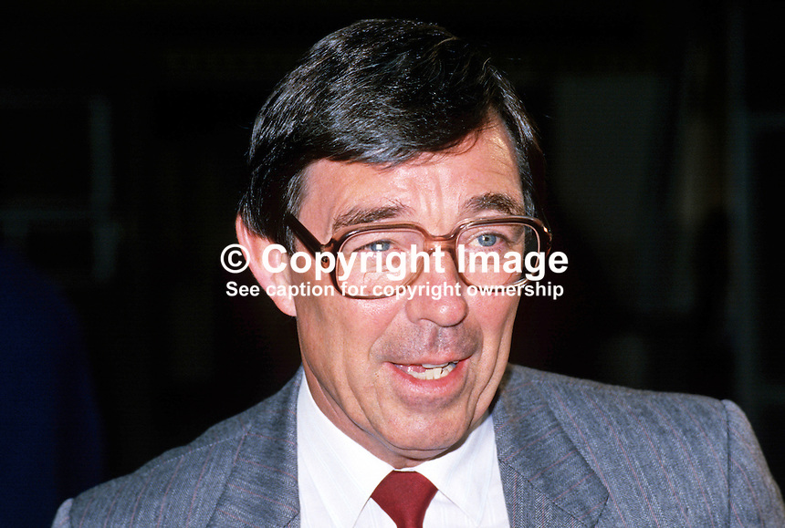 Garfield Davies, general secretary, USDAW, Union of Shop Distributive and Allied Workers, UK, 19870906GD.<br />