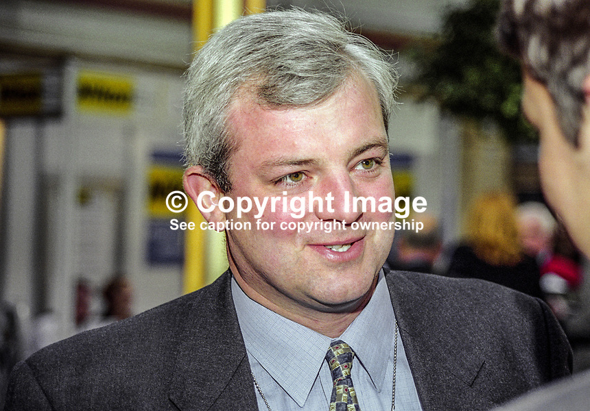 Stephen O'Brien, MP, Conservative Party, UK, 199910012.<br /> <br /> Copyright Image from Victor Patterson,<br /> 54 Dorchester Park, <br /> Belfast, UK, BT9 <br /> <br /> t1: +44 28 9066 1296 (from Rep of Ireland 048 90661296)<br /> t2: +44 28 9002 2446 (from Rep of Ireland 048 9002 2446)<br /> <br /> m: +44 7802 353836<br /> <br /> e: victorpatterson@me.com<br /> www.victorpatterson.com<br /> <br /> Please see my Terms and Conditions of Use at www.victorpatterson.com. It is IMPORTANT that you familiarise yourself with them.<br /> <br /> Images used on the Internet must be visibly watermarked i.e. &copy; Victor Patterson<br /> within the body of the image and copyright metadata must not be deleted. Images <br /> used on the Internet have a size restriction of 4kbs and will be chargeable at current<br />  NUJ rates unless agreed otherwise.<br /> <br /> This image is only available for the use of the download recipient i.e. television station, newspaper, magazine, book publisher, etc, and must not be passed on to any third <br /> party. It is also downloaded on condition that each and every usage is notified within 7 days to victorpatterson@me.com<br /> <br /> The right of Victor Patterson to be identified as the author is asserted in accordance with The Copyright Designs And Patents Act (1988). All moral rights are asserted.