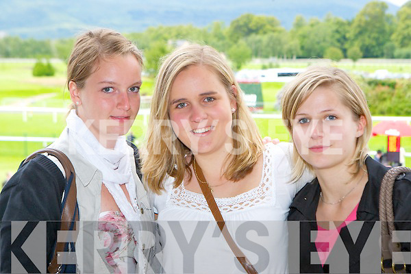 Natalie Watson, Carina Donoghue and Vicky Haye Killarney having fun at the Killarney races on Monday..