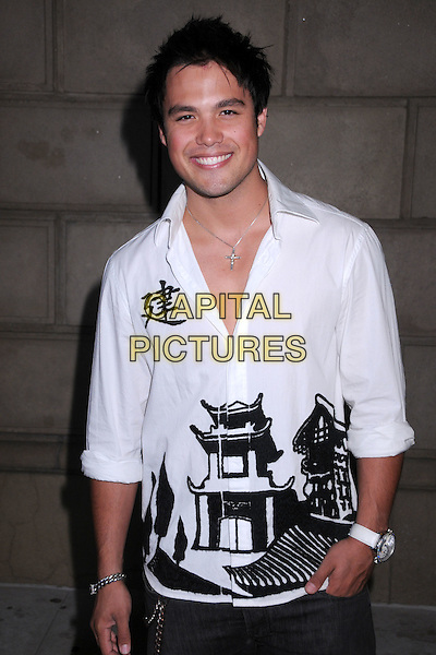 MICHAEL COPON.In Touch Weekly's Summer Stars Party 2008 at Social Hollywood, Hollywood, California, USA..May 22nd, 2008.half length white black print shirt hand in pocket .CAP/ADM/BP.©Byron Purvis/AdMedia/Capital Pictures.