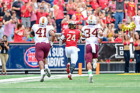 College Park, MD - SEPT 22, 2018: Maryland Terrapins running back Ty Johnson (24) breaks free for a long touchdown against Minnesota at Capital One Field at Maryland Stadium in College Park, MD. The Terrapins defeated the Golden Bears 42-13 to move to 3-1 on the season. (Photo by Phil Peters/Media Images International)