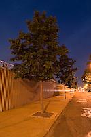 Mysterious Street Scene at Dusk in the Vinegar Hill Neighborhood of Brooklyn, New York City, New York State USA