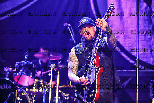 GOOD CHARLOTTE - Benji Madden - performing live at the O2 in London UK - 11 Feb 2016.  Photo credit: Paul Harries/IconicPix **NOT AVAILABLE FOR UK MUSIC MAGAZINES**