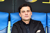 September 10th 2017, Olimpic Stadium, Rome, Italy; Serie A football league, Lazio versus AC Milan;   Vincenzo Montella coach of Milan in the dugout