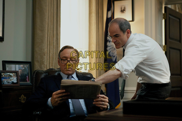 Kevin Spacey and Michael Kelly <br /> in House of Cards<br /> (Season 1)<br /> *Filmstill - Editorial Use Only*<br /> CAP/NFS<br /> Image supplied by Netflix/Capital Pictures