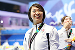 Satomi Suzuki (JPN), <br /> AUGUST 19, 2018 - Swimming : <br /> Women's 100m Breaststroke Medal Ceremony <br /> at Gelora Bung Karno Aquatic Center <br /> during the 2018 Jakarta Palembang Asian Games <br /> in Jakarta, Indonesia. <br /> (Photo by Naoki Nishimura/AFLO SPORT)
