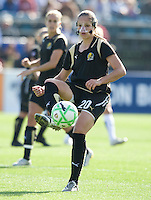24 May 2009: Erika of the FC Gold Pride in action during the game against Los Angeles Sol at Buck Shaw Stadium in Santa Clara, California.  Los Angeles Sol defeated FC Gold Pride, 2-0.