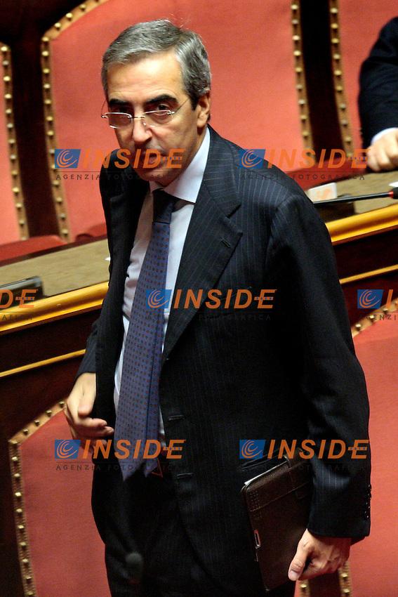 Maurizio Gasparri.Roma 20/12/2012 Senato. voto di fiducia sulla legge di stabilita'..Photo Samantha Zucchi Insidefoto