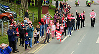 Lincoln City fans during the open top bus tour to celebrate the club winning the EFL Sky Bet League Two<br /> <br /> Photographer Andrew Vaughan/CameraSport<br /> <br /> The EFL Sky Bet League Two - Lincoln City - Champions Parade - Sunday 5th May 2019 - Lincoln<br /> <br /> World Copyright © 2019 CameraSport. All rights reserved. 43 Linden Ave. Countesthorpe. Leicester. England. LE8 5PG - Tel: +44 (0) 116 277 4147 - admin@camerasport.com - www.camerasport.com