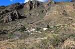 Landscape Sierra Alhamilla mountains around village of Nijar, Almeria, Spain