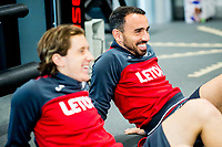 Leon Britton looks on during the Swansea City training session at The Fairwood training Ground, Swansea, Wales, UK. Wednesday 13 September 2017