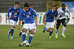 Danilo Cataldi in action during the Four Nations football match tournament Italy vs Germany at Rovereto, on November 14, 2013.  <br /> <br /> Pierre Teyssot