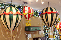 Pictured: Balloons decorations in the showroom. Thursday 16 November 2017<br /> Re: Festive company which manufactures tinsel in Cwmbran, Wales, UK.