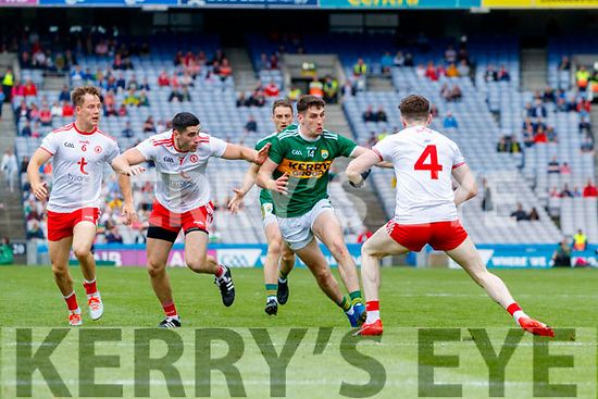 Paul Geaney, Kerry in action against Rory Brennan, Tyrone during the All Ireland Senior Football Semi Final between Kerry and Tyrone at Croke Park, Dublin on Sunday.