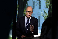 Director of the National Economic Council Larry Kudlow does a television interview at the White House in Washington D.C., U.S. on July 26, 2019. Photo Credit: Stefani Reynolds/CNP/AdMedia