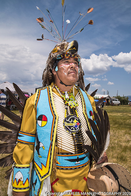 The annual Taos Pow-Wow,  each year in early July,  is attended not only by dancers from different tribes of New Mexico but by  participants from many other states as well.Richard Aquilar is from San Felipe Pueblonear Albuquerque.