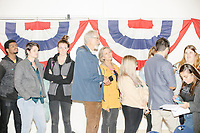 People wait in the selfie line to meet Democratic presidential candidate and Massachusetts senator Elizabeth Warren after the candidate spoke at a Town Hall campaign event in the Granite State Room in the Memorial Union Building at the University of New Hampshire in Durham, New Hampshire, on Wed., October 30, 2019. Per the campaign, approximately 625 people attended the event, which was part of Warren's 20th trip to the state since Jan. 2019.