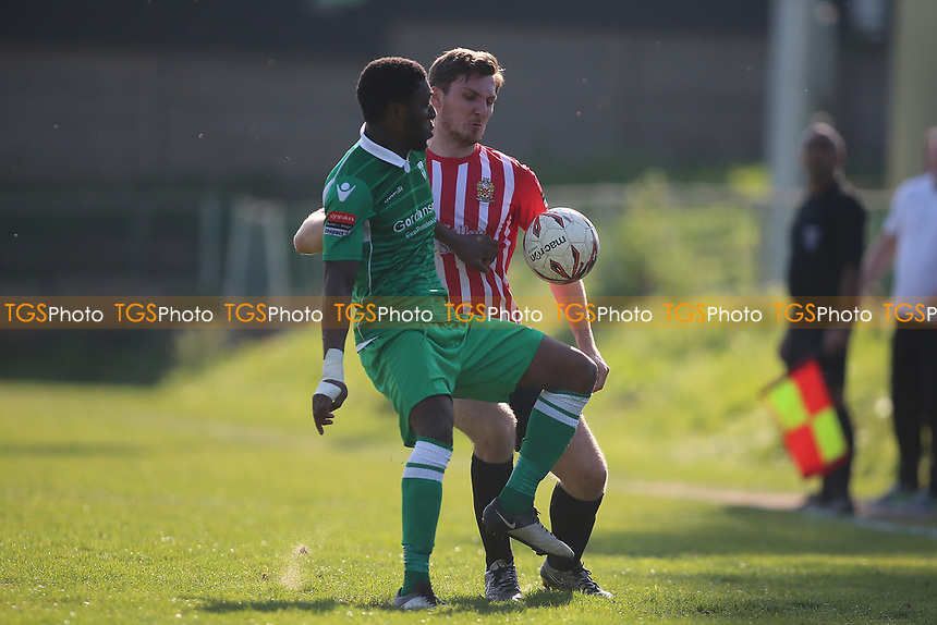 Kenzer Lee of Hornchurch and Darrelle Russell of Waltham Abbey during Waltham Abbey vs AFC Hornchurch, Ryman League Division 1 North Football at Capershotts on 8th April 2017