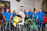 Until We Meet Again: Pictured at the Church of the Assumption, Moyvane on Saturday last at the memorial mass for all lost bikers were Dominick Hunt, Eileen O'Flaherty, Fr. Kevin McNamara, Pa Flynn, Tony Goggin & Brenda & Robert Heffernan.