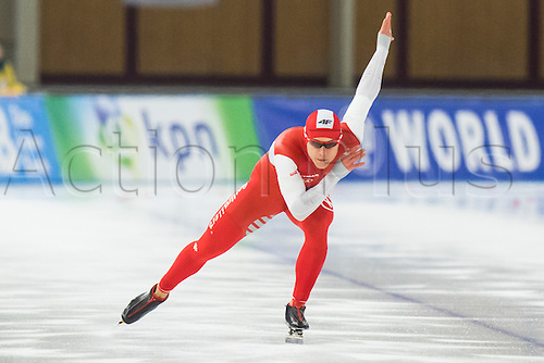 January 29th 2017, Sportforum, Berlin, Germany; ISU Speed Skating World Cup;  ISU Speed Skating World Cup  1000m Division B;  Piotr Michalski (POL)