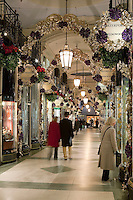 United Kingdom, England, London: Christmas shopping in the Picadilly Arcade, off Picadilly
