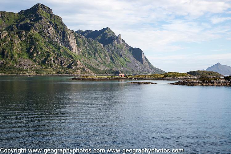 Mountains and skerries, Stormolla island, Lofoten islands, Nordland, Norway