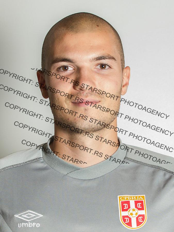 Fudbal U21 Srbija Portreti<br /> Beograd, 02.09.2015.<br /> Goalkeeper Stefan Cupic<br /> foto: Srdjan Stevanovic/Starsportphoto &copy;