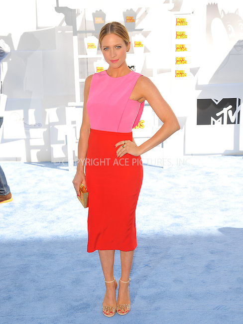 WWW.ACEPIXS.COM<br /> <br /> April 12 2015, LA<br /> <br /> Brittany Snow arriving at the 2015 MTV Movie Awards at the Nokia Theatre L.A. Live on April 12, 2015 in Los Angeles, California.<br /> <br /> By Line: Peter West/ACE Pictures<br /> <br /> <br /> ACE Pictures, Inc.<br /> tel: 646 769 0430<br /> Email: info@acepixs.com<br /> www.acepixs.com